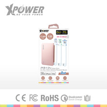 Good Quality FCC Certificate LED indicator Li-Polymer Battery LightUSB Cable external storage Battery Charger for iphone 7 plus
