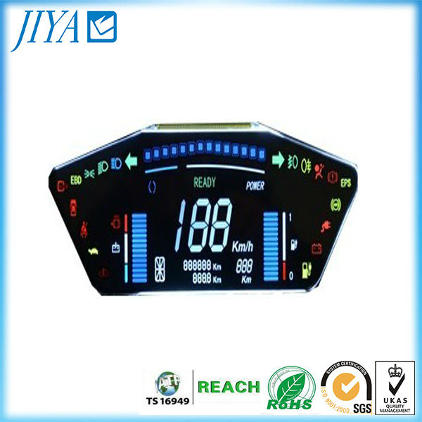 Automotive digital LCD dashboard graphical design