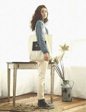 Laptop Shoulder Hand Woman Fashion Tote Canvas School Bag
