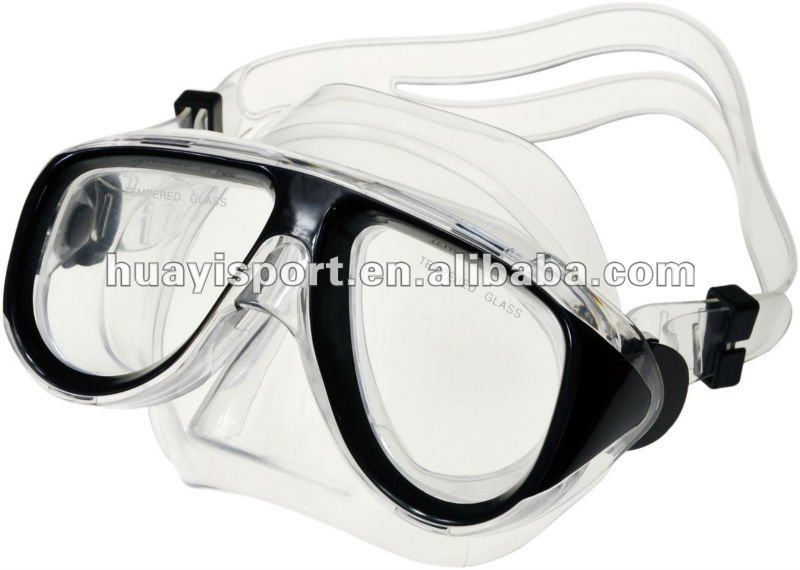 HuaYi Anti-fog Diving Equipment Adjustable Swimming Goggles Mask Glasses