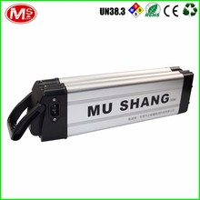 Rechargeable Electric Bike Li-ion battery Silver Fish Series Battery 48v10ah