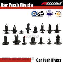 Auto clips Push Retainer Black Fastener Rivet Assortment Kit