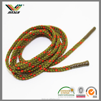 High quality reflective polyester triple braided shoelace rope