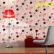 High quality vinyl wallpaper 3d korea wallpaper for chrismas