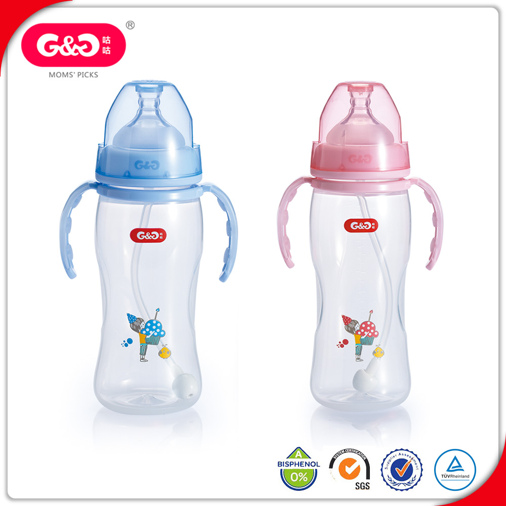 Classic Slow Flow Teat Anti-Colic Baby Feeding Milk Bottle 260ml