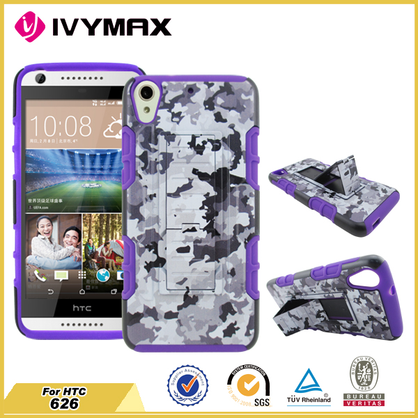 Fashion priting flip phone case with stand hybrid mobile phone shell for HTC 626