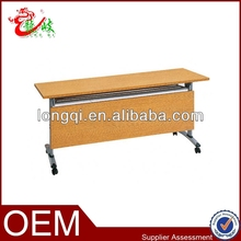 economy steel flipper table student mensa with wood grain finish M230