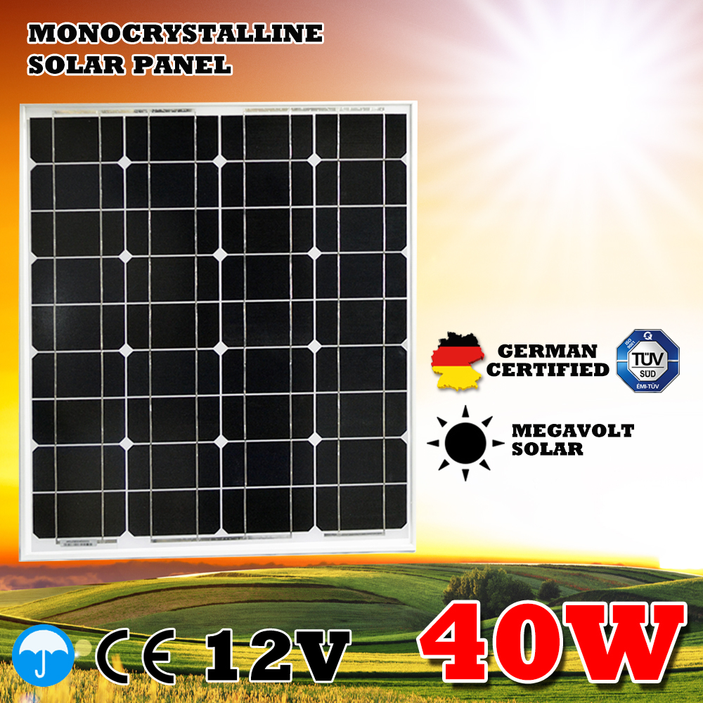 Factory Direct Small Monocrystalline 40w Solar Panel