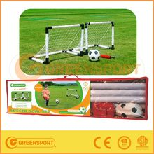 two mini plastic soccer goal with pvc ball and pump for kids' gifts