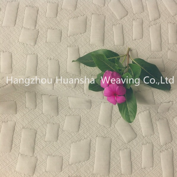 100polyester irregular square mattress fabric for bedding
