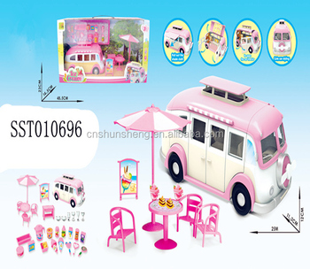 Pink Pretend Play Toys Ice Cream Dining Car Food Truck