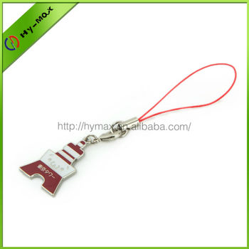 high quality tokyo tower smiling face enamel with epoxy phone strap