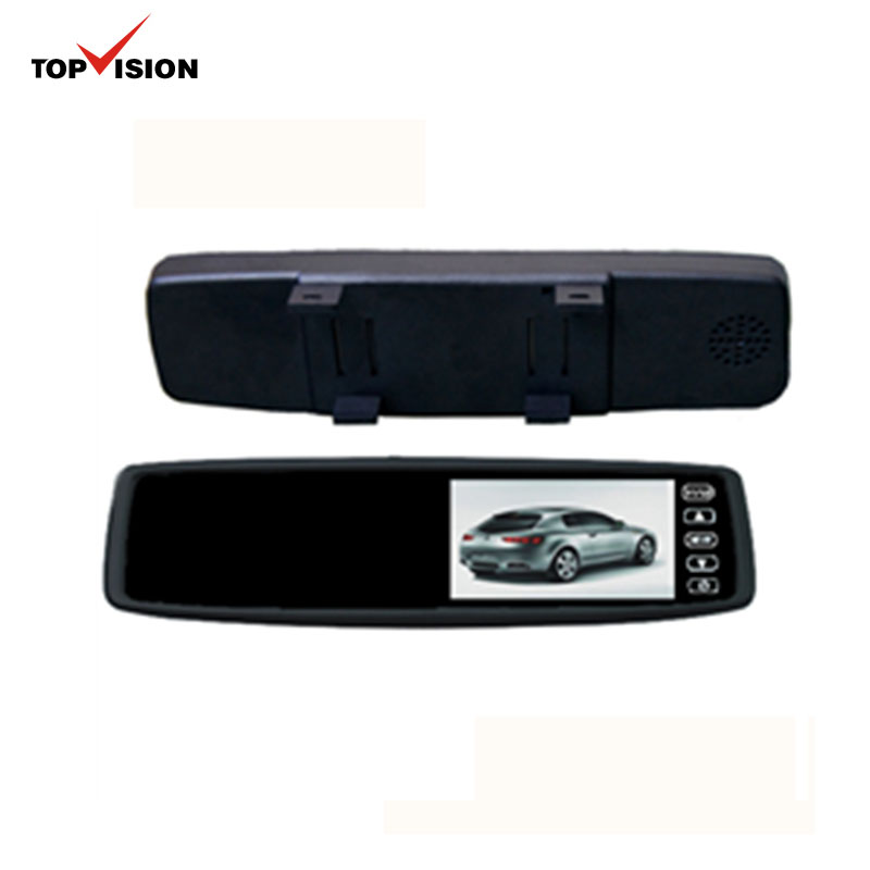 4.3inch TFT Color LCD USB Screen Bluetooth 1080p Rear View Mirror roof Car Monitors with hdmi input