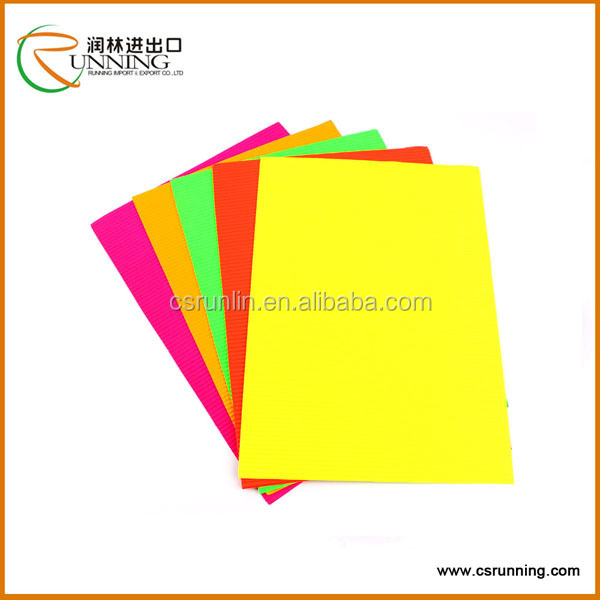 A4 A5 fancy printed design gloss corrugated paper/ corrugated paper sheet