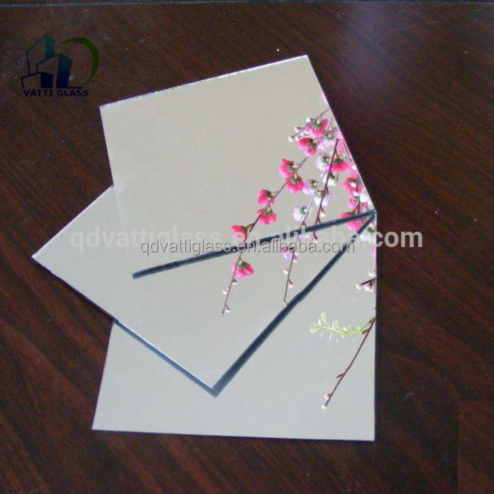 Thin aluminum mirror made by sheet glass with different color back paint