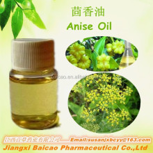 100%Natural Bulk Aniseed essential Oil China Anise Oil with 85% anethole