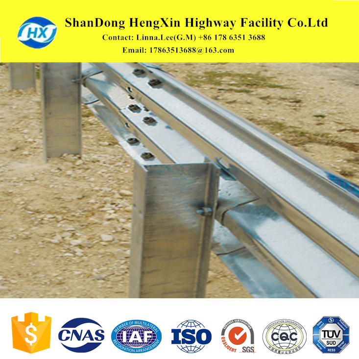 metal fence post and beam barrier for highway facilities