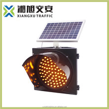 300mm solar Amber traffic light blinker