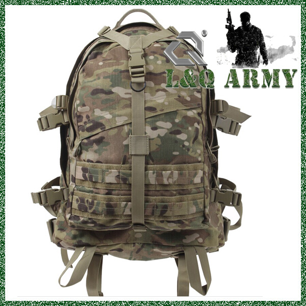 Top Design Military Black Backpack 3 Day Assault Packs for Camping Hiking Travel