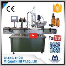Micmachinery finely processed MIC-L40 automatic electronic e cigarette liquid dropper bottle filling capping machine
