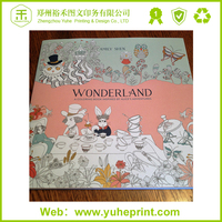 Fancy paper printing services A4 size landscape film laminated custom coloring book
