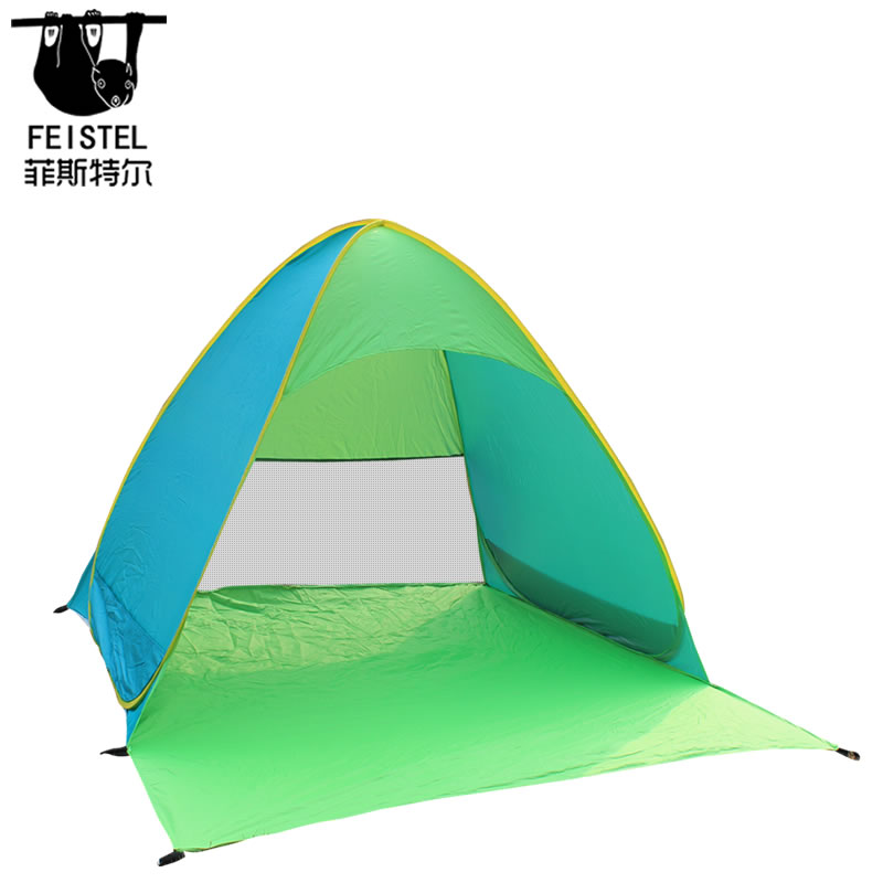 Automatic Pop Up Beach Tent Easy Up Sun Shelter Easy Set Up Tear Down, Portable Instant Beach Baby Canopy, UPF 50