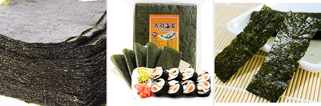 Halal snack foods raw materials crispy dried seaweed sushi