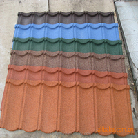 Sand stone aluminum coated zinc metal roof tile in South Africa