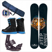 ski snowboard and snow boots snow binding snow shoes snowboard set