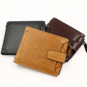 New Arrival Wholesale Black Wallet Top Grain Leather Wallet Stock Wallet