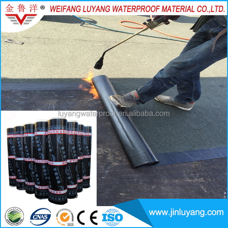 torch applied waterproof membrane for concrete roof