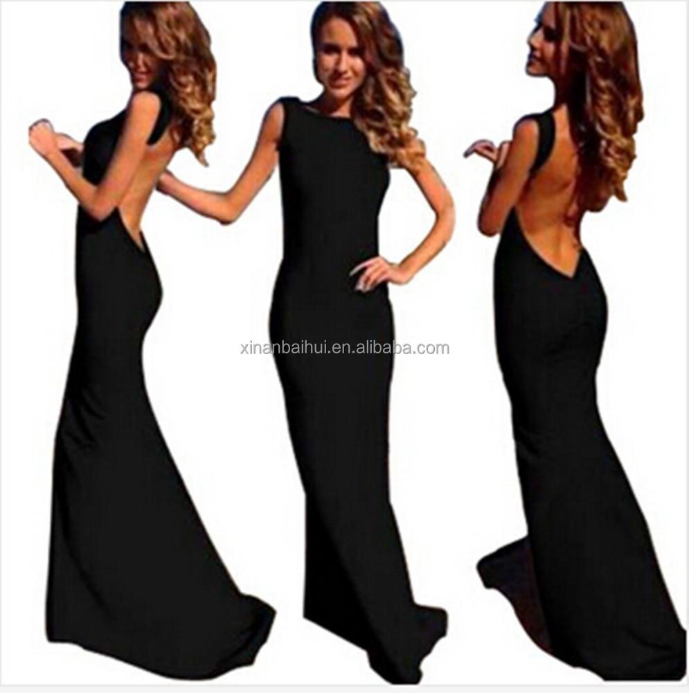 Платья с вырезом на спине длинные