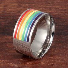 Popular Gay's jewelry good quality titanium silver plating men gay ring