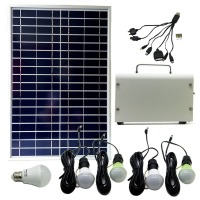 20W Solar Power System Solar Panel Mobile Charger Mini Home Sun Panel Solar Lighting System