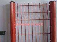weld mesh fence with peach type post