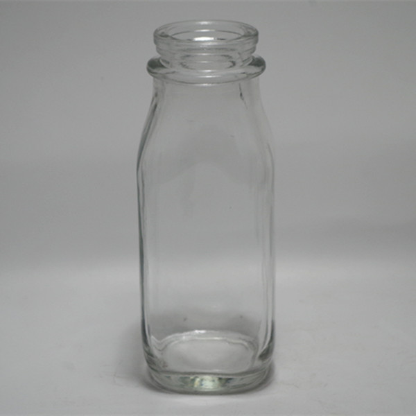 400ml cheap airtight squared shaped clear glass empty bottle