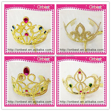 Hot costume princess cosplay cheap tall pageant crown tiara for party decoration