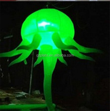 Charming inflatable party decorating jellyfish balloon wtih color changing led christmas light