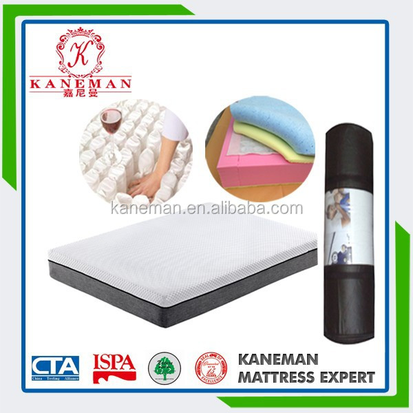 Top quality rollable visco memory foam mattress encasement