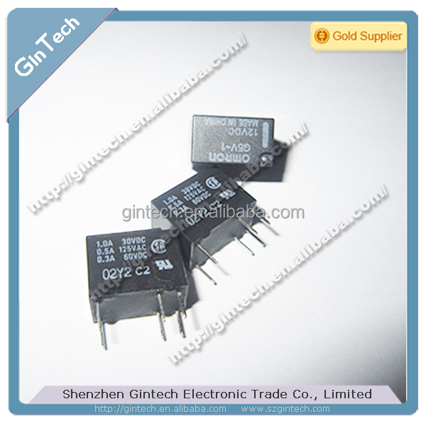 Low Signal Relay G5V-1 DC5 DC12 DC24 SPDT MINI SIZE relay 10 H x 7.5 W x 12.5 L mm