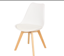 Replica Modern PU Leather Cushion PP Plastic Tulip Dining Chair With Wood Leg For Sale