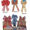 Decorative Christmas Tartan Wire Ribbon Bow