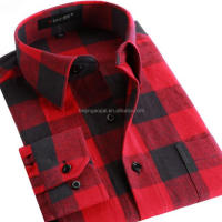 Custom Logo Flannel Checks Casual New