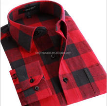 Custom logo flannel checks casual new model latest shirt designs for men