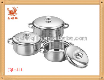 6 pcs stainless steel cookware set (JQL-441)