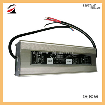 300W Waterproof constant current LED driver, LED switching power supply