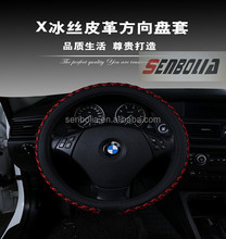 Black Artificial Leather Car Steering Wheel Cover for Old Mazda 3 Mazda 5 Mazda 6 Pentium B70 auto spare parts