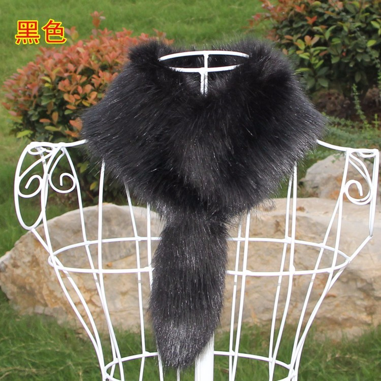 Factory wholesale black fox faux fur fabric, white fox fake fur for, fur collars/ trimmings from Chinese suppliers