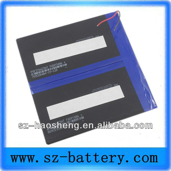 Rechargeable 3766125 6000mah samsung lipo battery for forklift