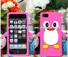 little Penguin silicone cases for iPhone 5